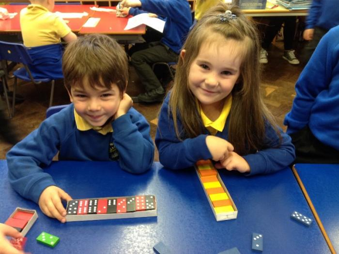 Even finding a pattern with dominoes.